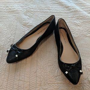 ANTONIO MELANI Pointed Black Flats Size 7.5